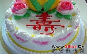 生日蛋糕/大寿生日蛋糕的做法