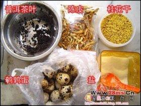 桂香茶叶鹌鹑蛋图解