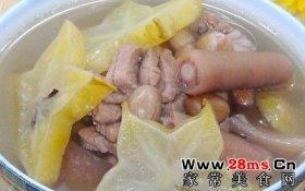 莲藕花生猪尾汤