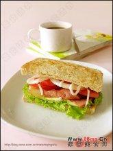 营养早餐三明治图解