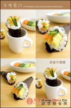 手卷寿司图解