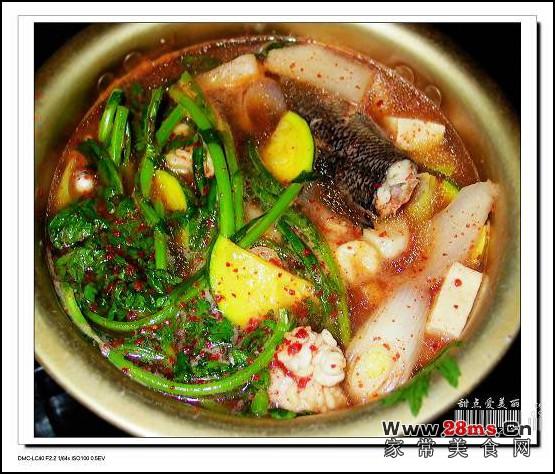 韩国辣鱼汤图解的做法图片