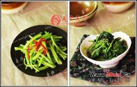 清炒苋菜梗图解