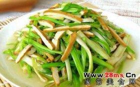 韭黄炒香干