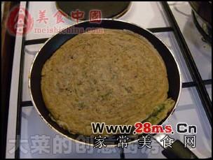 香椿芽煎蛋饼的做法