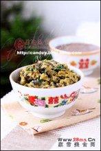 香椿韭菜炒蛋图解