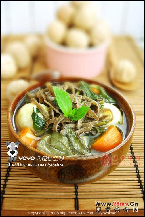 蔬菜羊肚汤