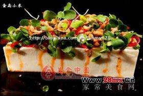 春芽虾酱拌豆腐图解