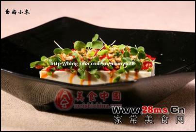 减肥小菜:春芽虾酱拌豆腐