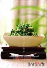 春季小菜荠菜拌香干图解