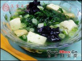 荠菜豆腐汤图解