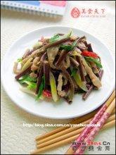 蕨菜肉丝图解