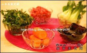 荠菜猪肉油豆腐图解