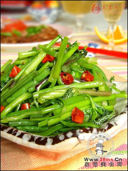 炒蔬菜怎样防止汤汁太多-爆炒双野