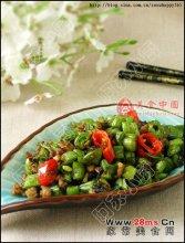 榄菜肉碎四季豆图解