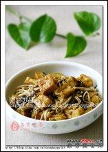 榄菜金针豆腐图解