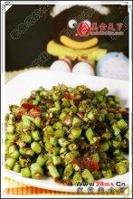 豆瓣橄榄菜炒豆角图解