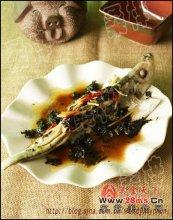 榄菜蒸鱼图解
