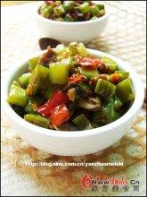 剁椒榄菜四季豆图解