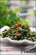 橄榄菜豌豆图解
