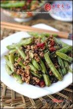 橄榄菜煸四季豆图解