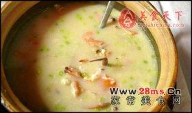 广州砂锅海虾粥图解