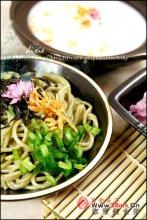 豆浆火锅配京都风绿茶面图解