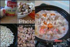 香芋百合芡实煲图解