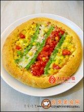 番茄蔬菜披萨图解