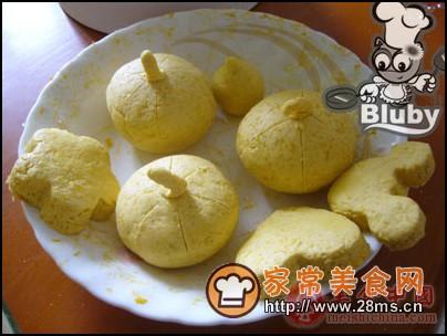 布式小点 南瓜饼图解的做法