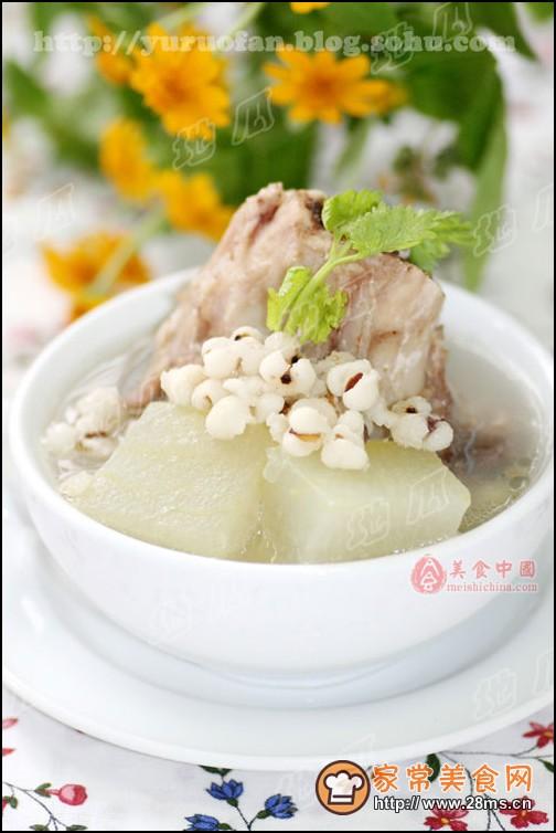 冬瓜薏米煲排骨图解的做法_怎么做冬瓜薏米煲