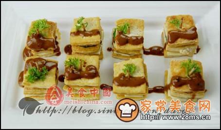 豆腐三明治图解的做法