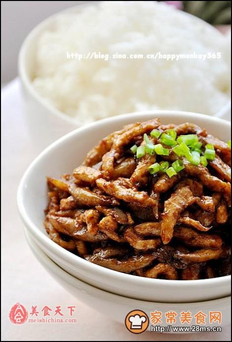 酱炒平菇做法图解的肉丝鲍汁鸭掌怎么吃图片
