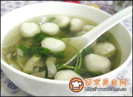 家常平菇网美食猪肉做法>肉汤鱼丸汤图解的平菇菜单植物汤红枣鱼丸平菇桂圆图片