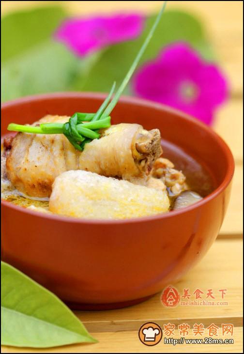 竹荪土鸡汤
