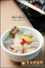竹荪魔芋土鸡汤图解
