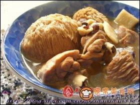 猴头菇炖鸡汤图解
