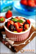 草莓枣糕布丁图解