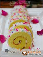 七彩蛋糕卷图解