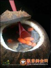 原盅椰子炖乌鸡图解