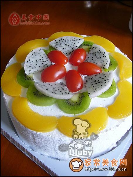 简单的鲜果奶油蛋糕