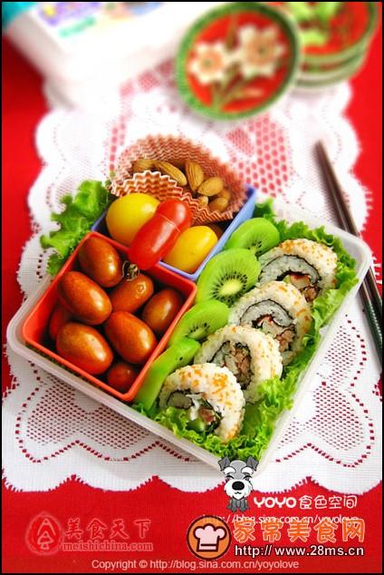 寿司饭卷便当图解的做法