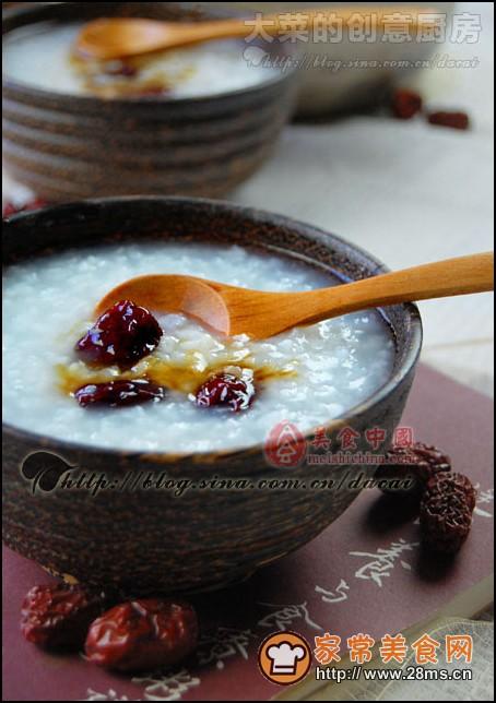 红枣糯米粥的做法