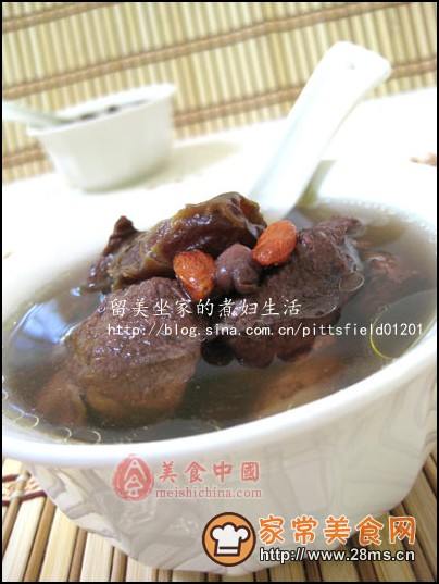 大枣红豆炖牛腱