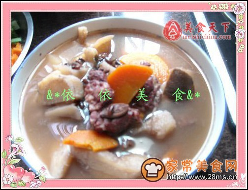 粉葛赤小豆煲鲮鱼汤