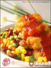 茄汁浇鱼柳图解