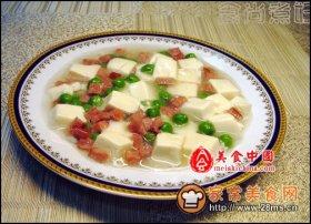 火腿嫩豆腐图解