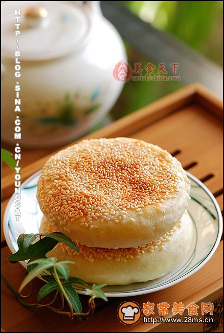 芝麻馅发面千层饼图解做法简单是白面做法大全的常见菜,不一定