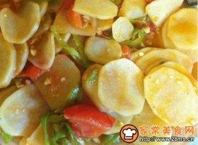 青椒番茄土豆片