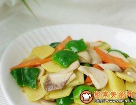 杏鲍菇辣椒炒土豆片
